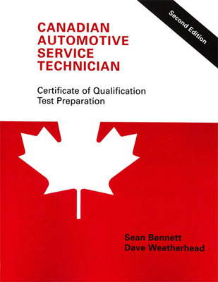 Canadian Automotive Service Technician: Certificate of Qualification Test Preparation, Second Edition